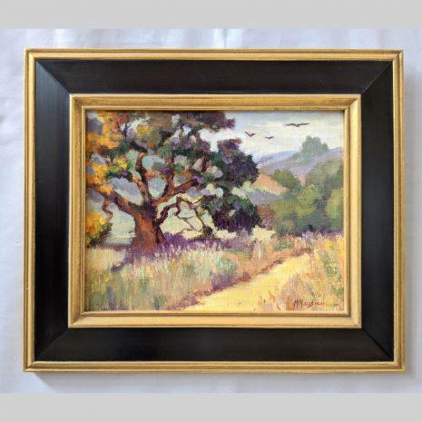 Meadow Oak 11x14 black with gold filet frame