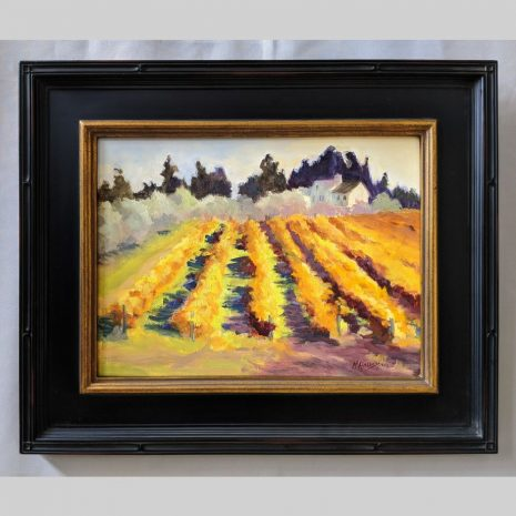 Olives and Vines 12x16 black with gold trim frame