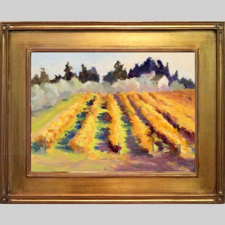 Olives and Vines 12x16 gold frame