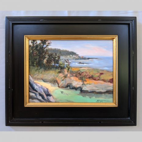 Point Lobos Spring 12x16 black with gold filet frame