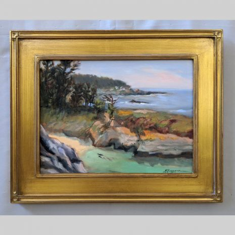 Point Lobos Spring 12x16 gold frame