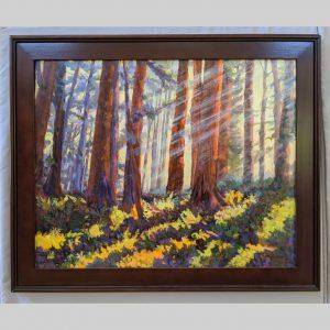 Redwood Mist 24x30 brown frame
