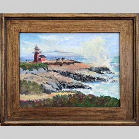 Steamers Lane 12x16 brown frame