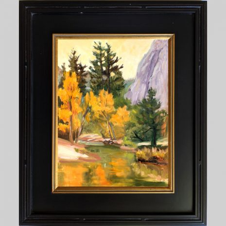 Golden Glow 16x12 black w gold frame