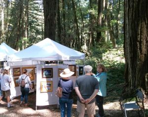 KMAF booth in the Redwoods