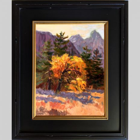 Sunrise Glow 16x12 black w gold frame