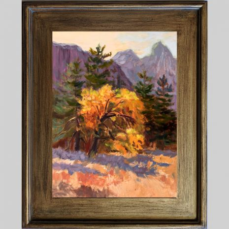 Sunrise Glow 16x12 brown frame
