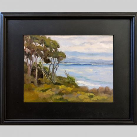 Above the Shore 9x12 3PB black frame
