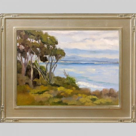 Above the Shore 9x12 Omega 2inch silver frame