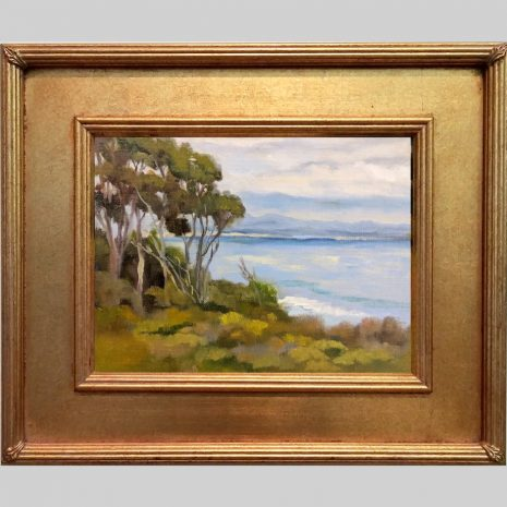 Above the Shore 9x12 SD 629G gold frame