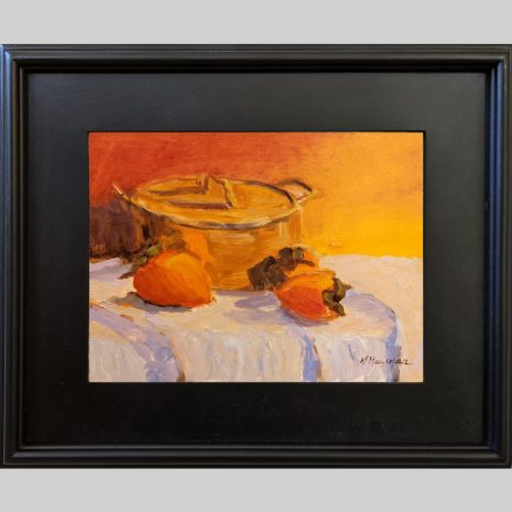Bean Pot and Persimmon 9x12