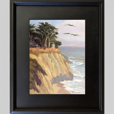 Cruising the Coast 12x9 3PB black frame