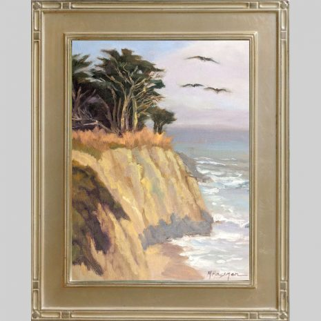 Cruising the Coast 12x9 Omega 2inch silver frame