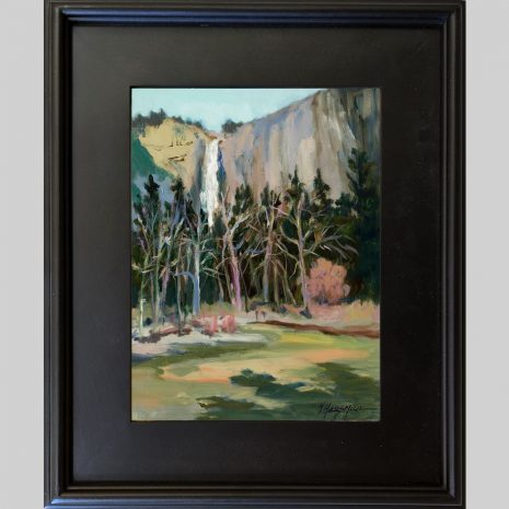 Falls from the River 12x9 3PB black frame
