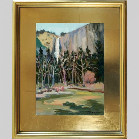 Falls from the River 12x9 3PG gold frame