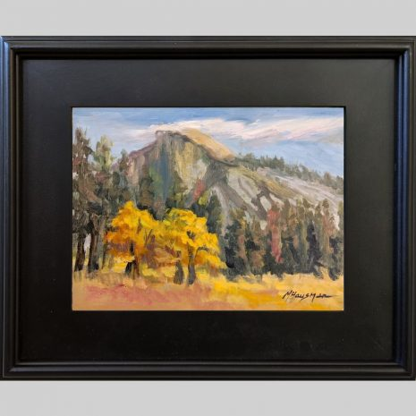 Half Dome Oaks 9x12 3PB black frame
