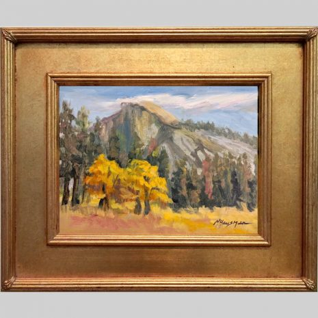 Half Dome Oaks 9x12 SD 629G gold frame