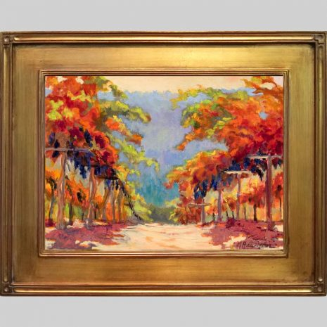 Pinot Vines 12x16 gold O40 frame