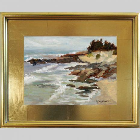 Rocky Beach 9x12 3PG gold frame
