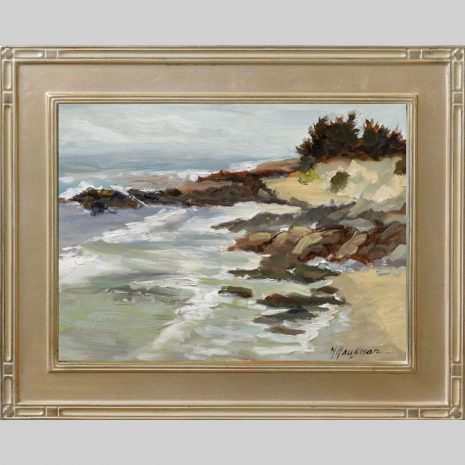 Rocky Beach 9x12 Omega 2inch silver frame