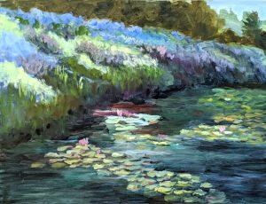 Lily Pond Flora 14x18
