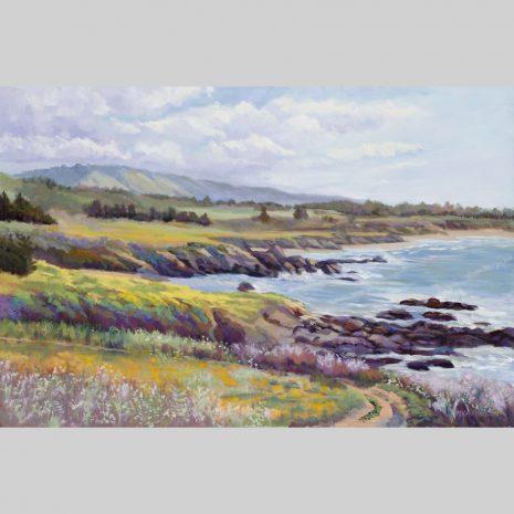 Coastal Spring, 24x36, oil on linen canvas