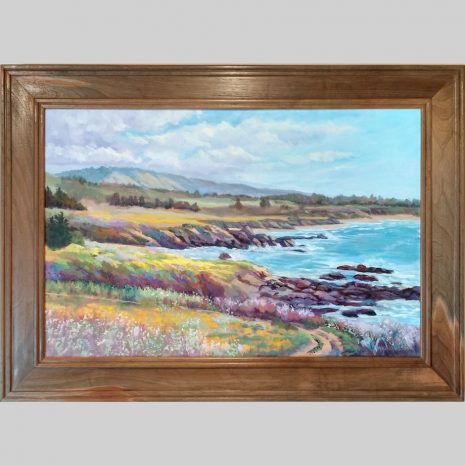 Coastal Spring, 24x36, black walnut frame