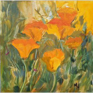 Garden Poppies 6x6