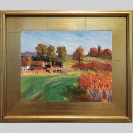 Hadley Farm 11x14 3PG gold frame