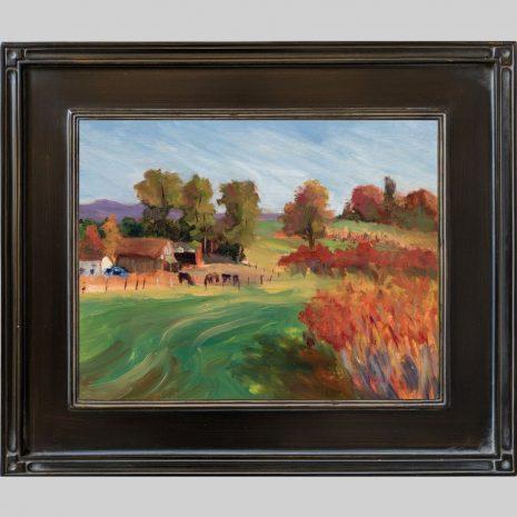 Hadley Farm, 11x14, black Om80 frame