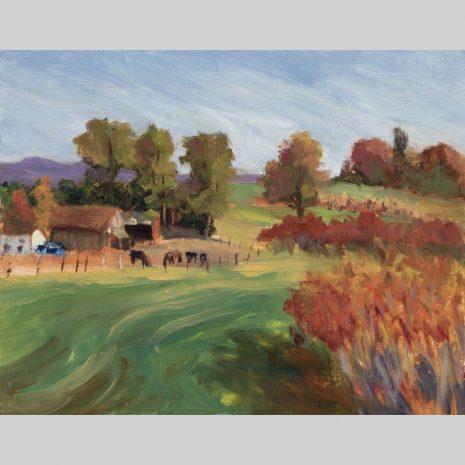 Hadley Farm, 11x14, oil