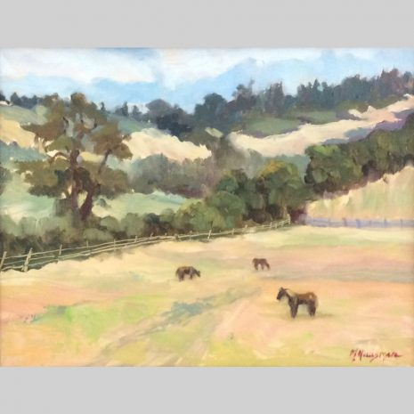 Horse Haven, 11x14, oil
