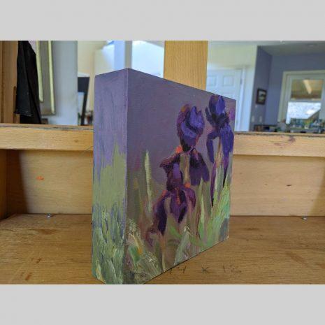 Lavender Iris 6x6 left