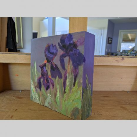 Lavender Iris 6x6 right