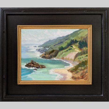 Sea Spring 11x14 black with gold liner frame