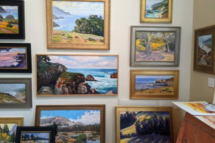 part of the west wall of my art studio