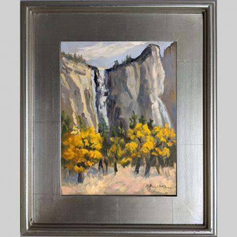 Fall Colors Yosemite, 9x12, oil, 3PS silver frame