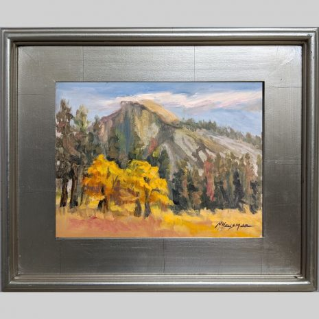 Half Dome Oaks, 9x12, oil, 3PS silver frame