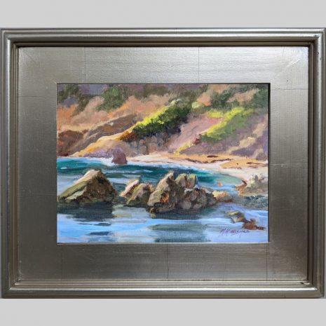 Quiet Cove, 9x12, oil, 3PS silver