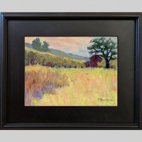 Winter Colors, 9x12, oil, 3PB black frame