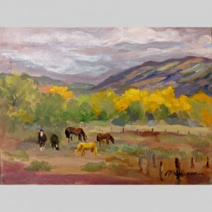 Pasture Pals, 9x12, oil