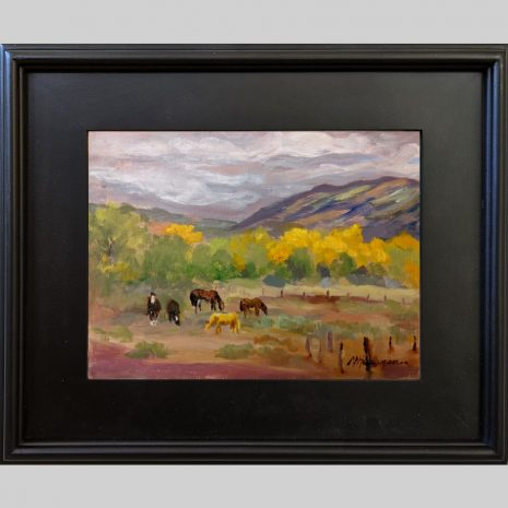 Pasture Pals, 9x12, oil, black frame