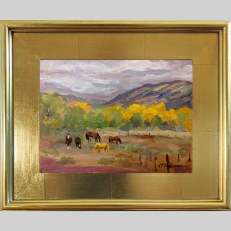 Pasture Pals, 9x12, oil, 3PG gold